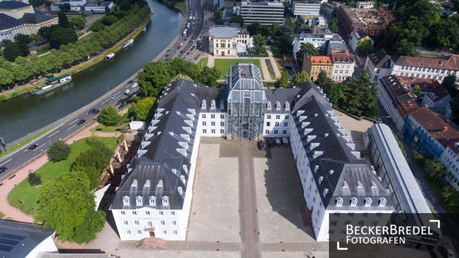Drohnenfoto Saarbrücker Schloss