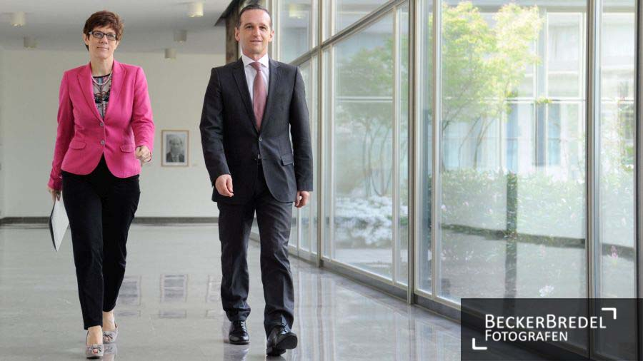 Bilanzpressekonferenz Heiko Maas und Annegret Kramp-Karrenbauer