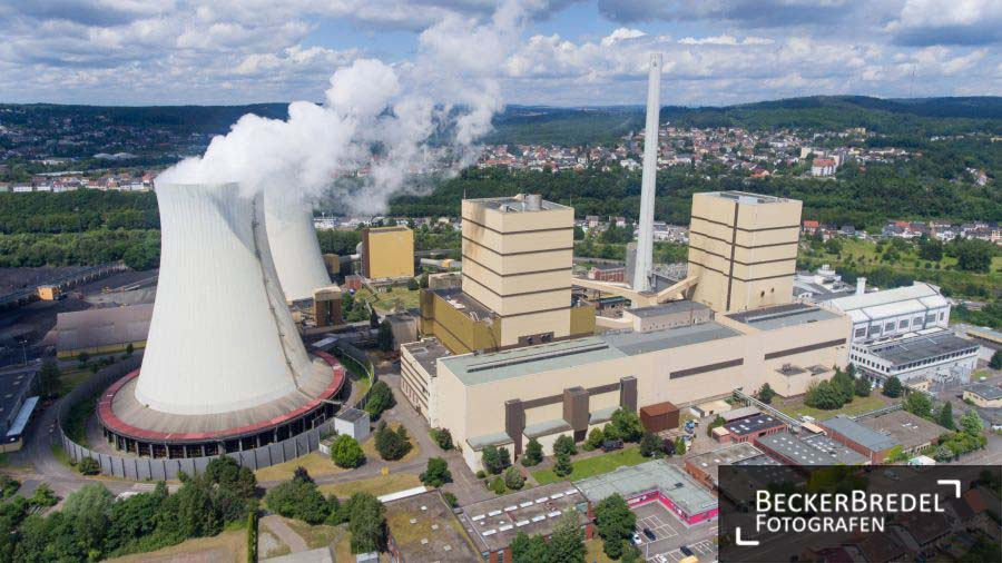 Drohnenfoto Kraftwerk Fenne